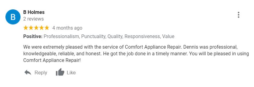 Comfort Appliance Repair Covington