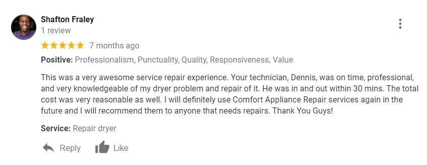 Covington appliance repair service
