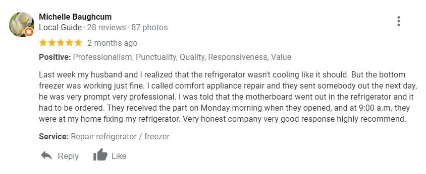 appliance repairs Covington